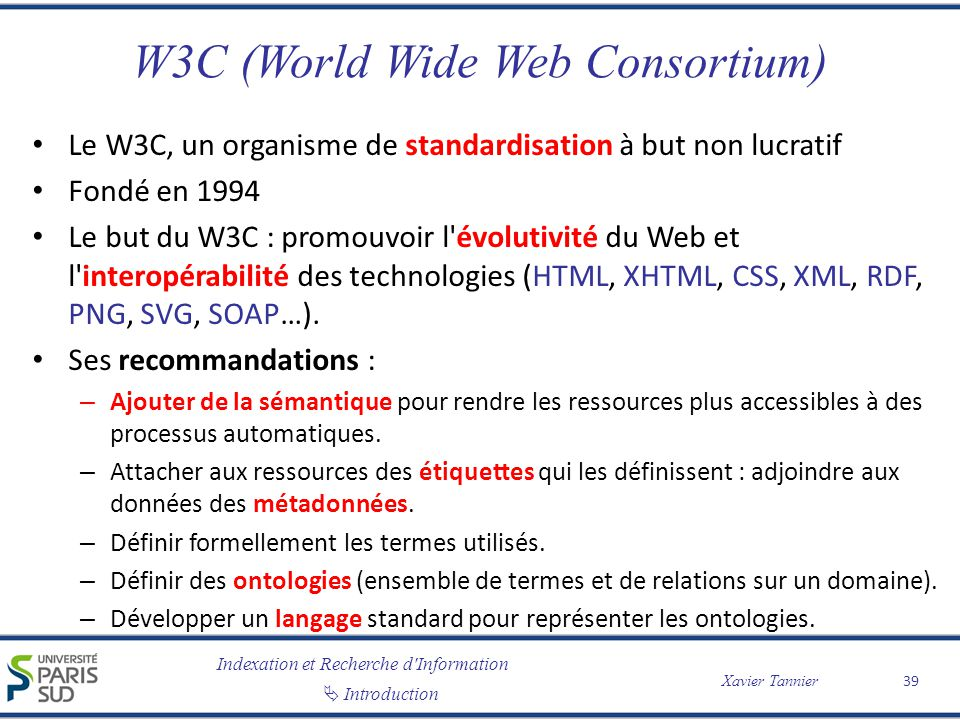 W3C (World Wide Web Consortium)