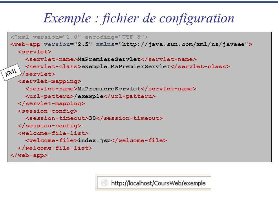 Exemple : fichier de configuration