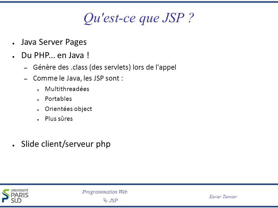 Qu est-ce que JSP Java Server Pages Du PHP... en Java !
