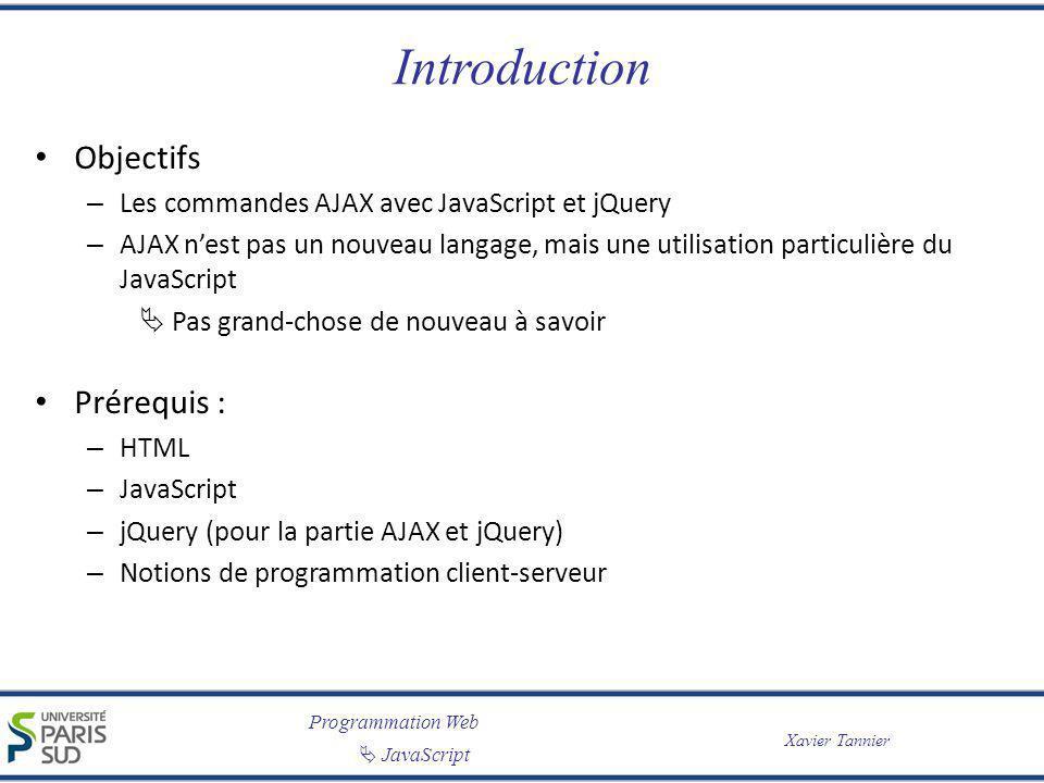 Introduction Objectifs Prérequis :