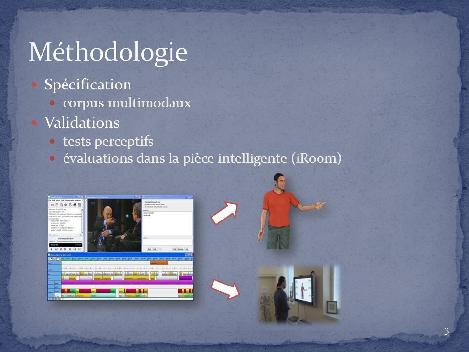 Méthodologie Spécification Validations corpus multimodaux