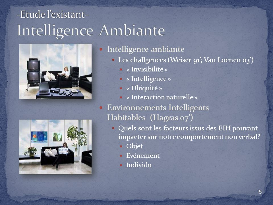 -Etude l'existant- Intelligence Ambiante