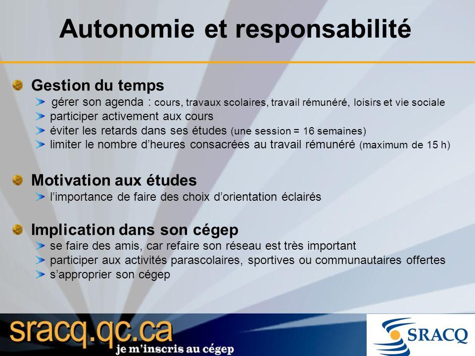 Autonomie et responsabilité