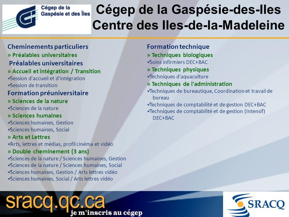 Cégep de la Gaspésie-des-Iles Centre des Iles-de-la-Madeleine