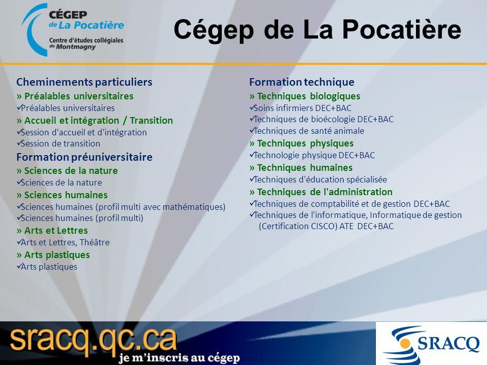 Cégep de La Pocatière Cheminements particuliers Formation technique