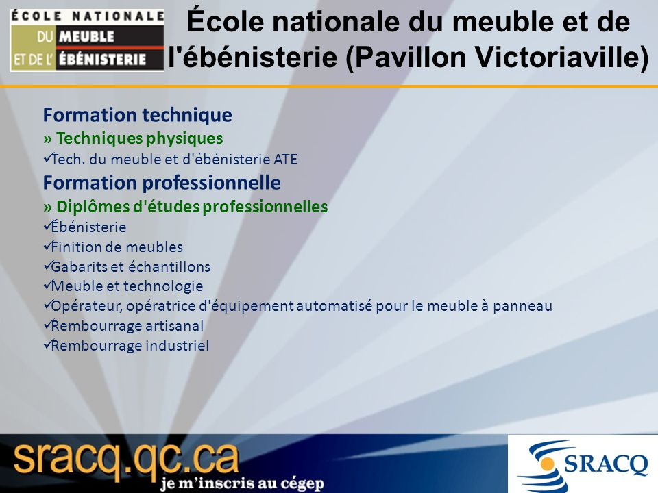 Les tudes coll giales ppt t l charger for Ecole nationale du meuble