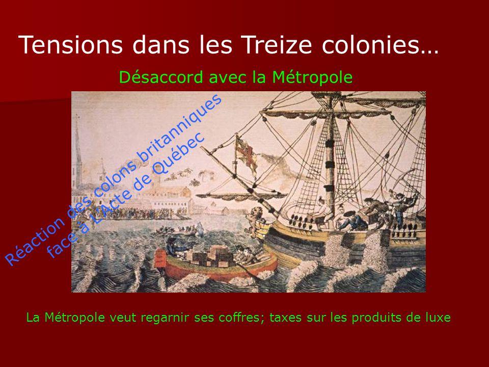 Réaction des colons britanniques face à L'Acte de Québec