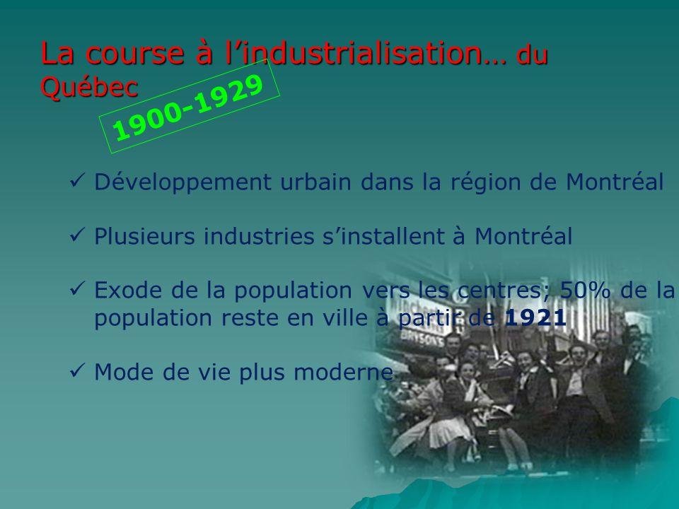 La course à l'industrialisation… du Québec