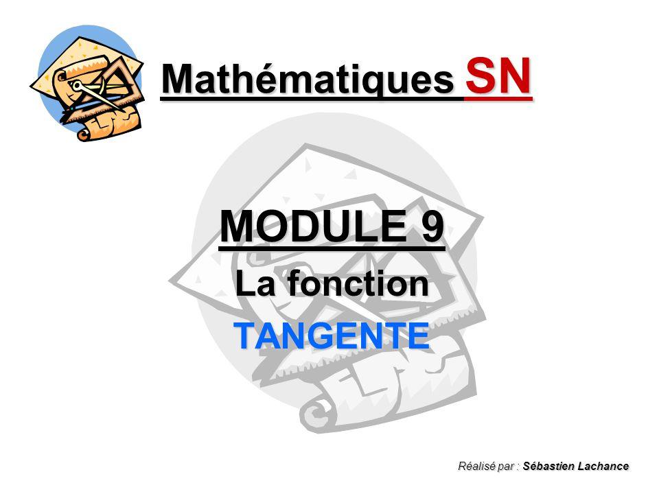 MODULE 9 La fonction TANGENTE