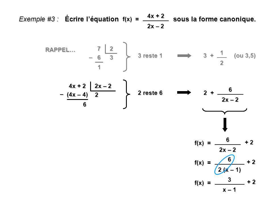 Écrire l'équation sous la forme canonique.