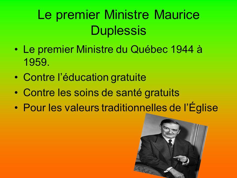 Le premier Ministre Maurice Duplessis
