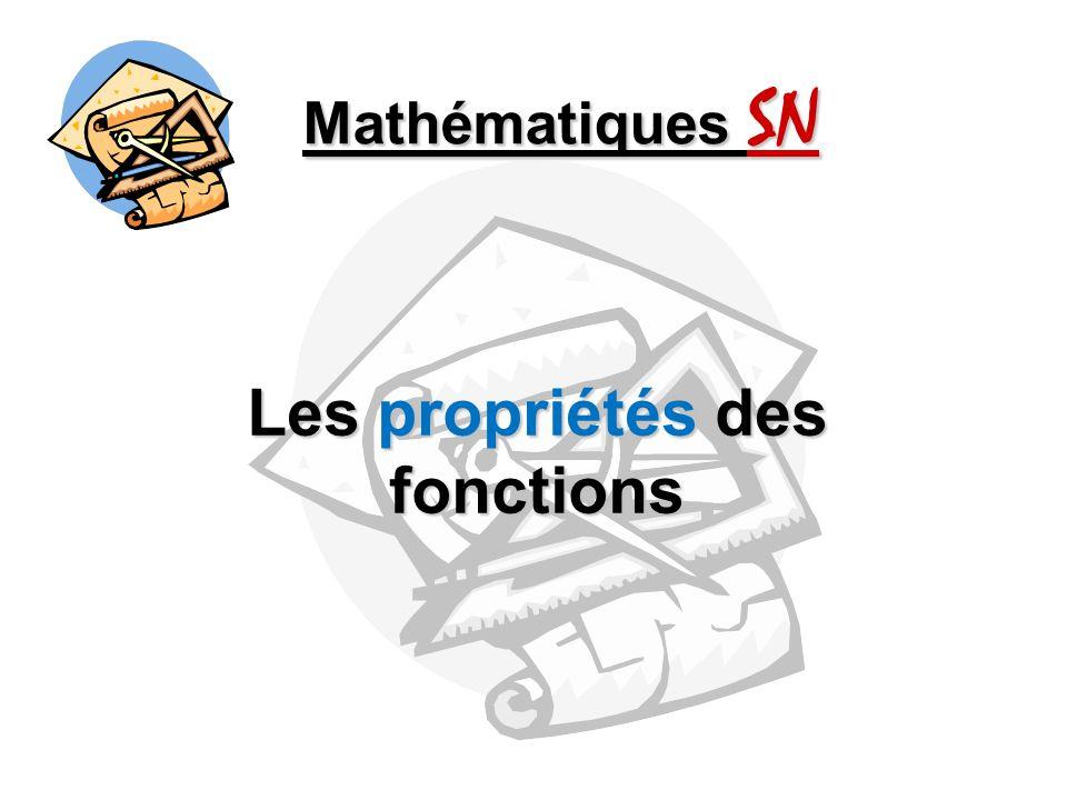 Les propriétés des fonctions