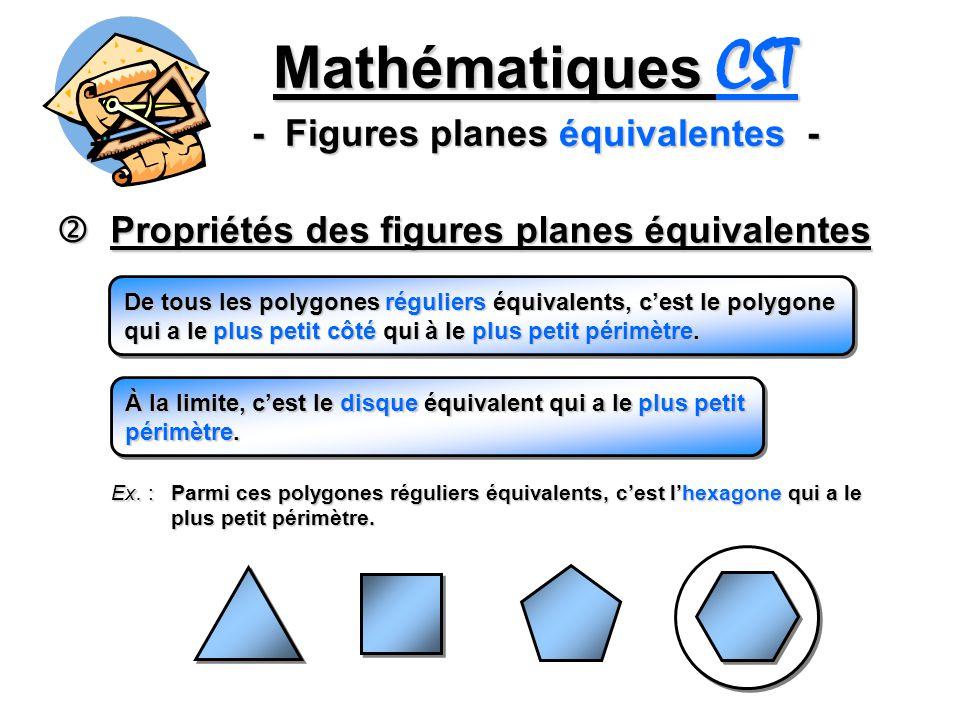 Mathématiques CST - Figures planes équivalentes -