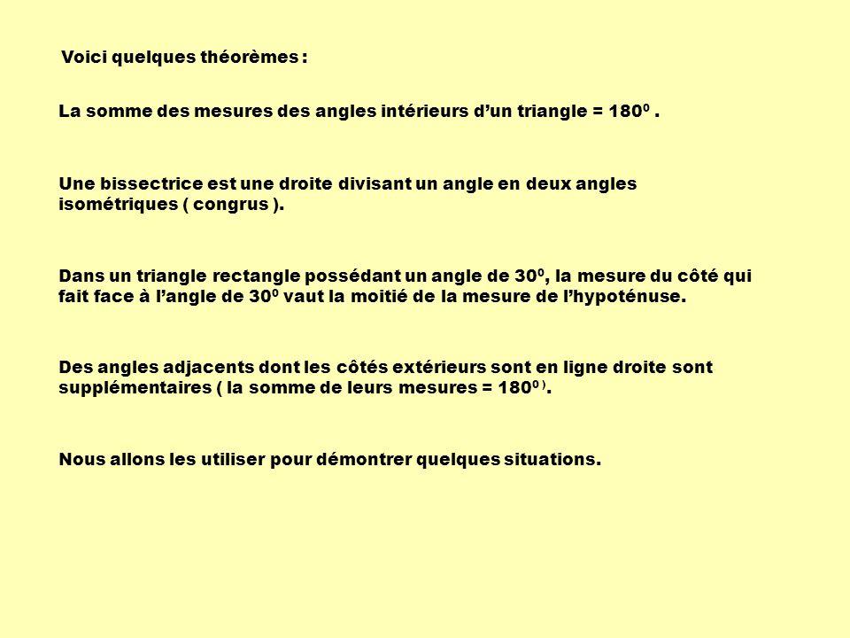 Voici quelques théorèmes :