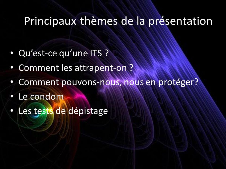 Principaux thèmes de la présentation