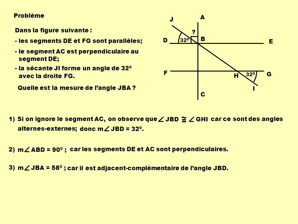 ~ = Problème A C J Dans la figure suivante :