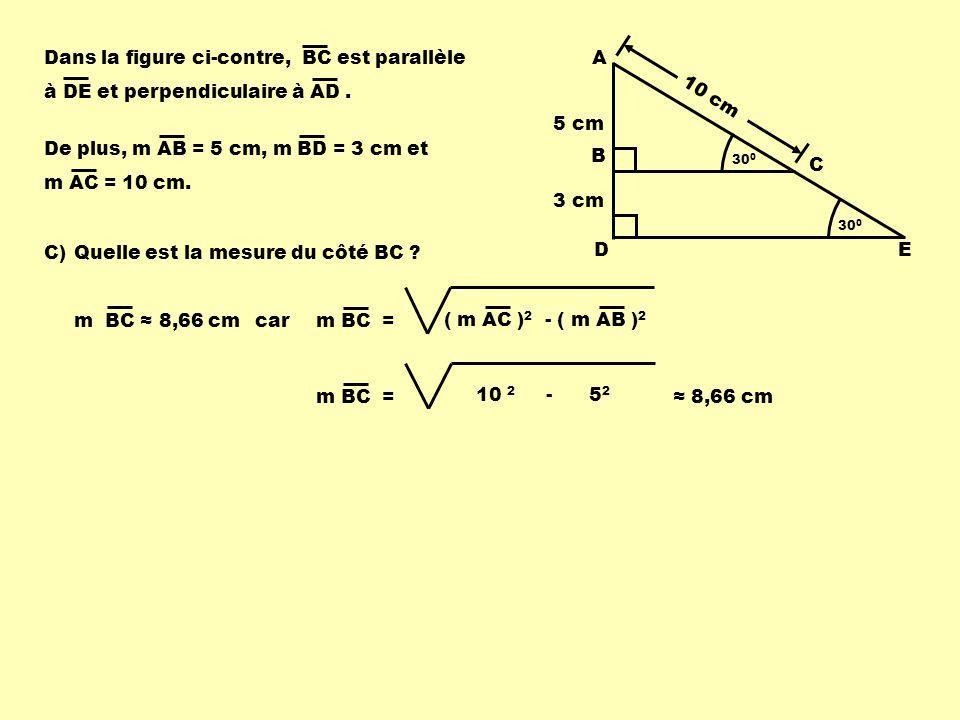 Dans la figure ci-contre, BC est parallèle
