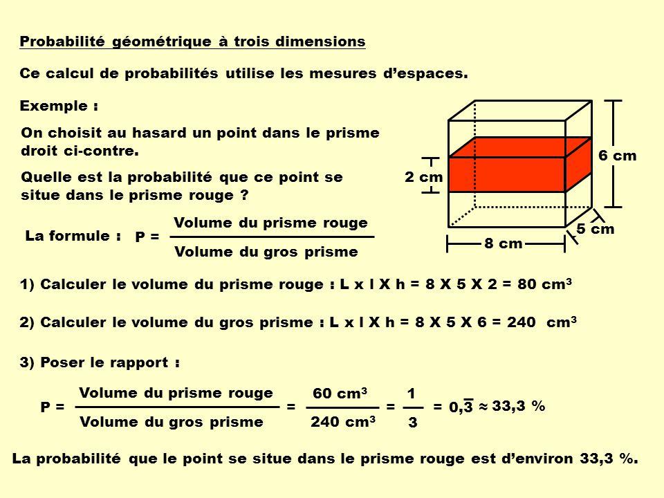 Probabilité géométrique à trois dimensions