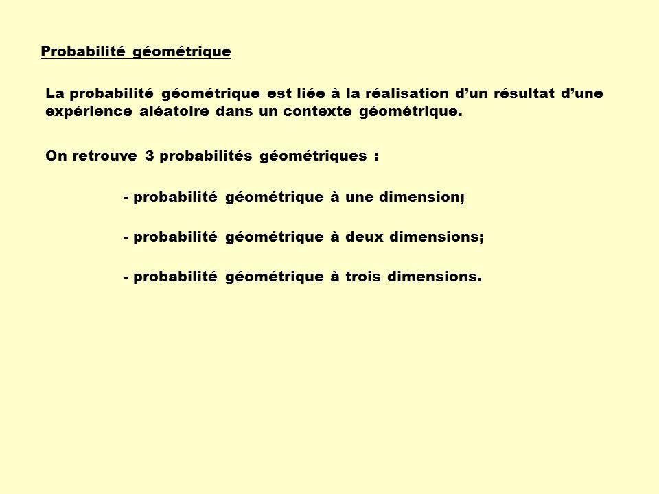 Probabilité géométrique