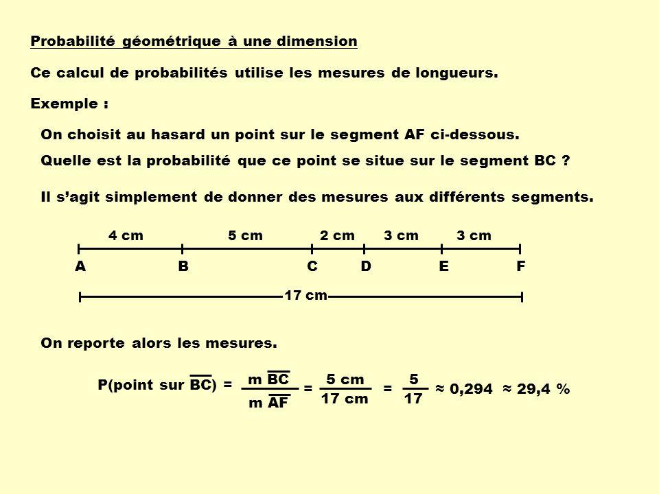 Probabilité géométrique à une dimension