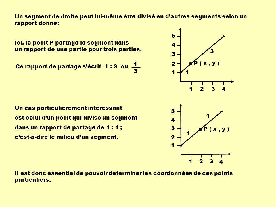 Un segment de droite peut lui-même être divisé en d'autres segments selon un rapport donné: