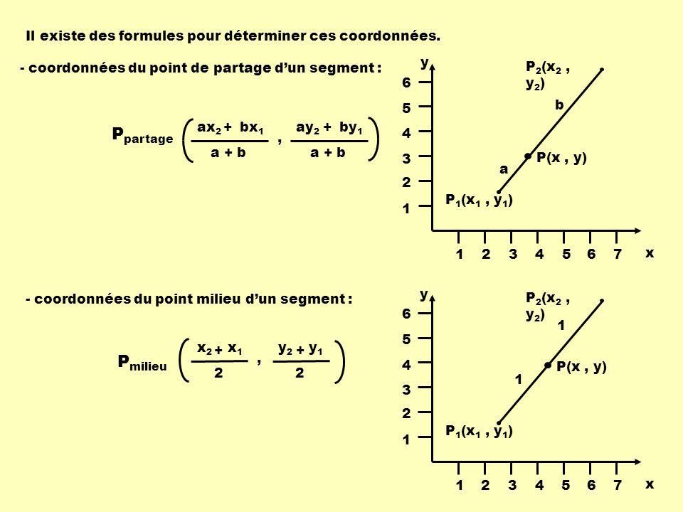Il existe des formules pour déterminer ces coordonnées.