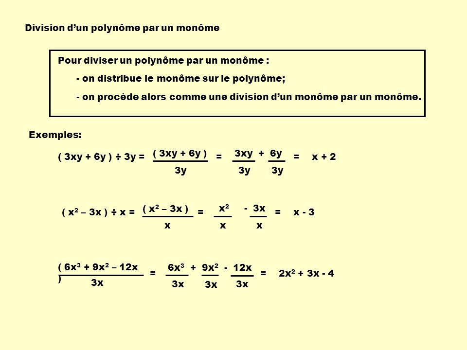 Division d'un polynôme par un monôme