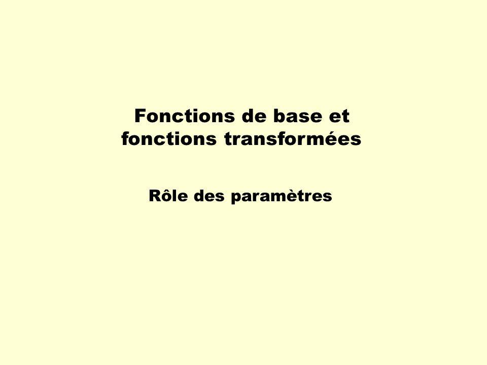 Fonctions de base et fonctions transformées