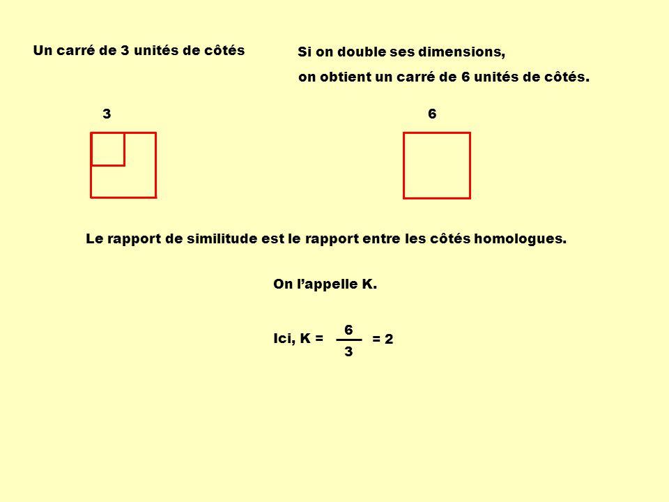 Un carré de 3 unités de côtés