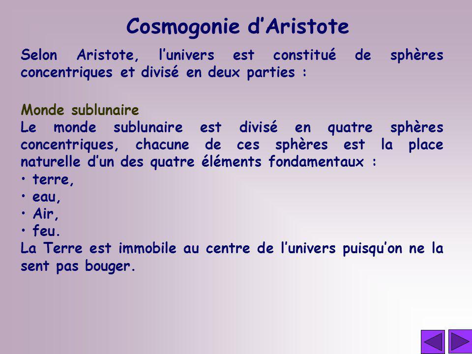 Cosmogonie d'Aristote