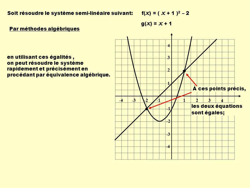 Soit résoudre le système semi-linéaire suivant: