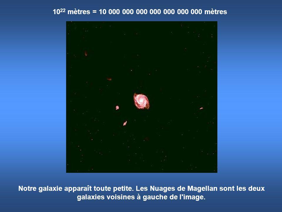 1022 mètres = 10 000 000 000 000 000 000 000 mètres