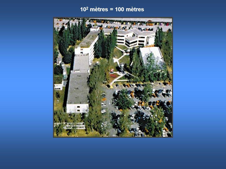 102 mètres = 100 mètres