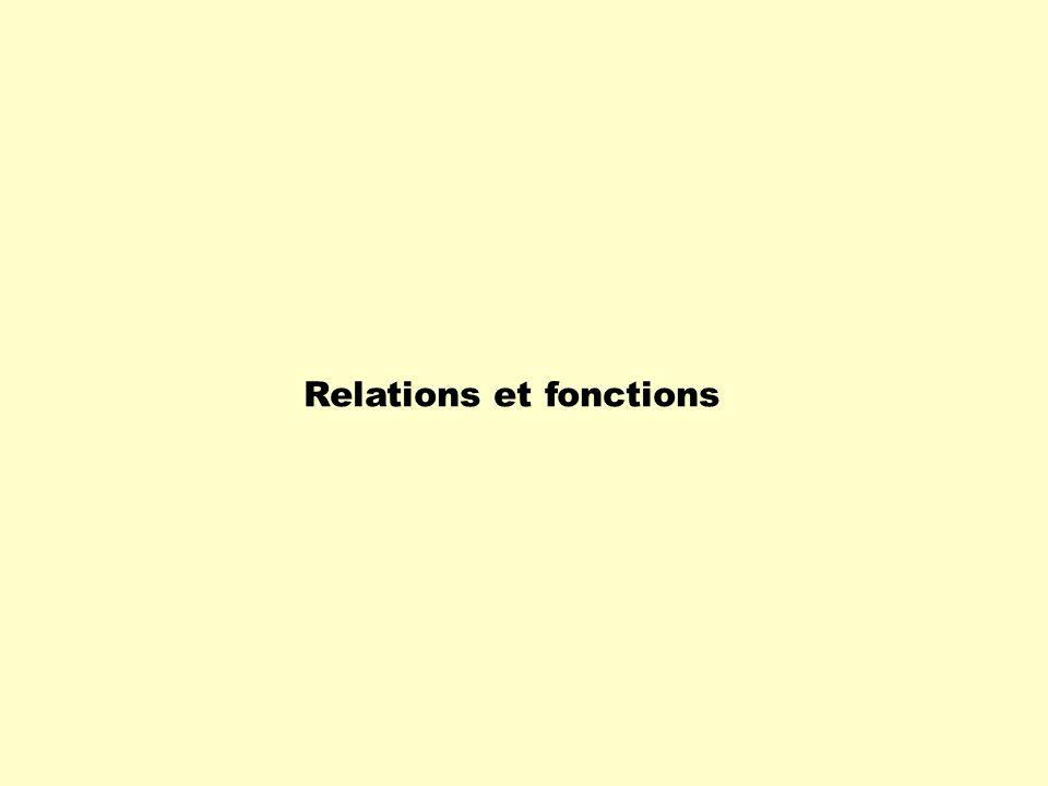 Relations et fonctions