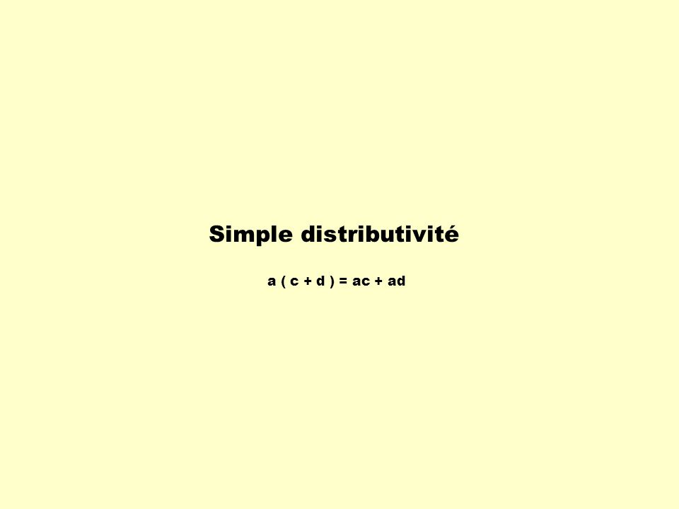 Simple distributivité