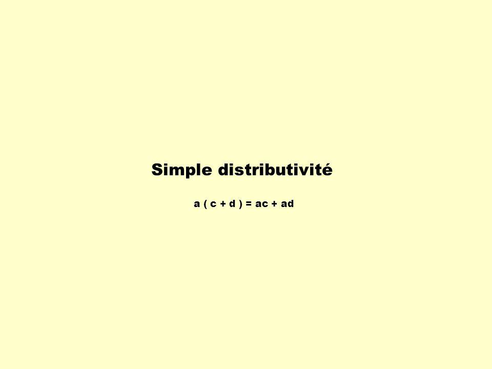 Simple distributivité