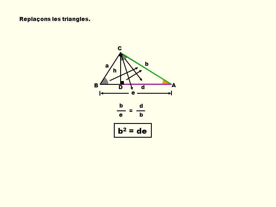 Replaçons les triangles.