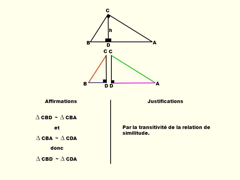 ∆ CBD ∆ CBA ∆ CBA ∆ CDA ∆ CBD ∆ CDA B C D A h B C D C A D Affirmations