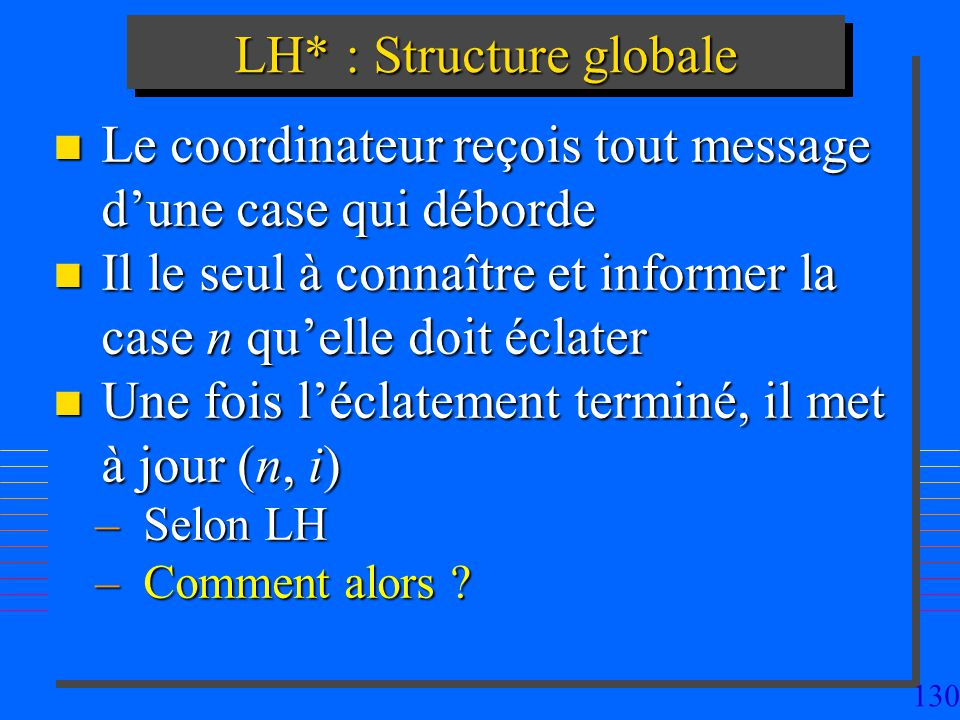 LH* : Structure globale