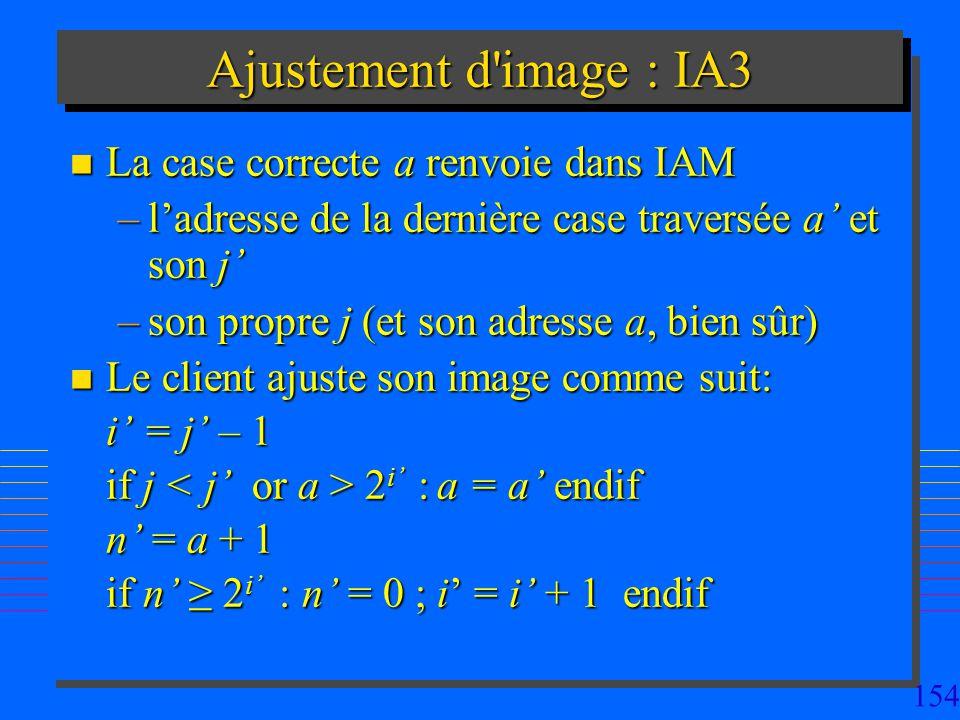 Ajustement d image : IA3 La case correcte a renvoie dans IAM