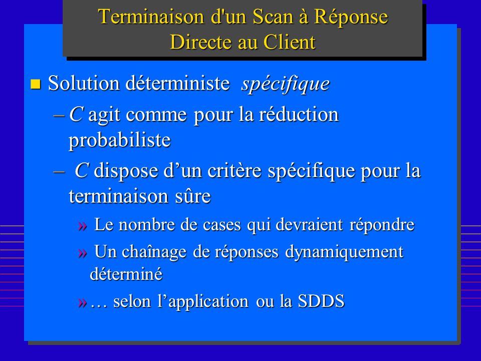 Terminaison d un Scan à Réponse Directe au Client