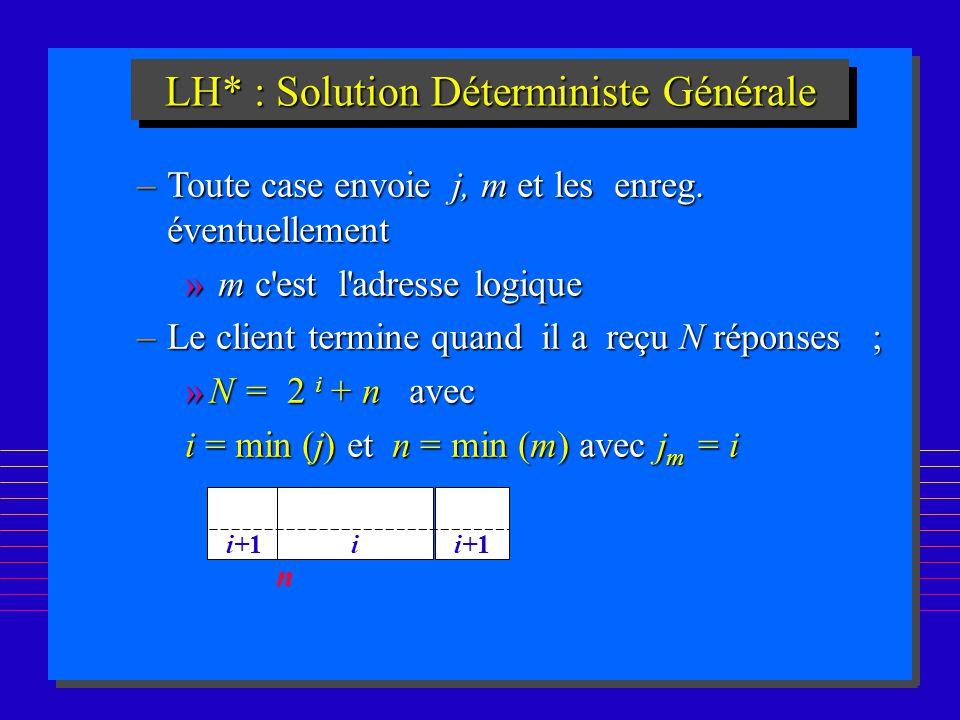LH* : Solution Déterministe Générale