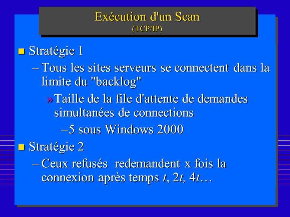 Exécution d un Scan (TCP/IP)