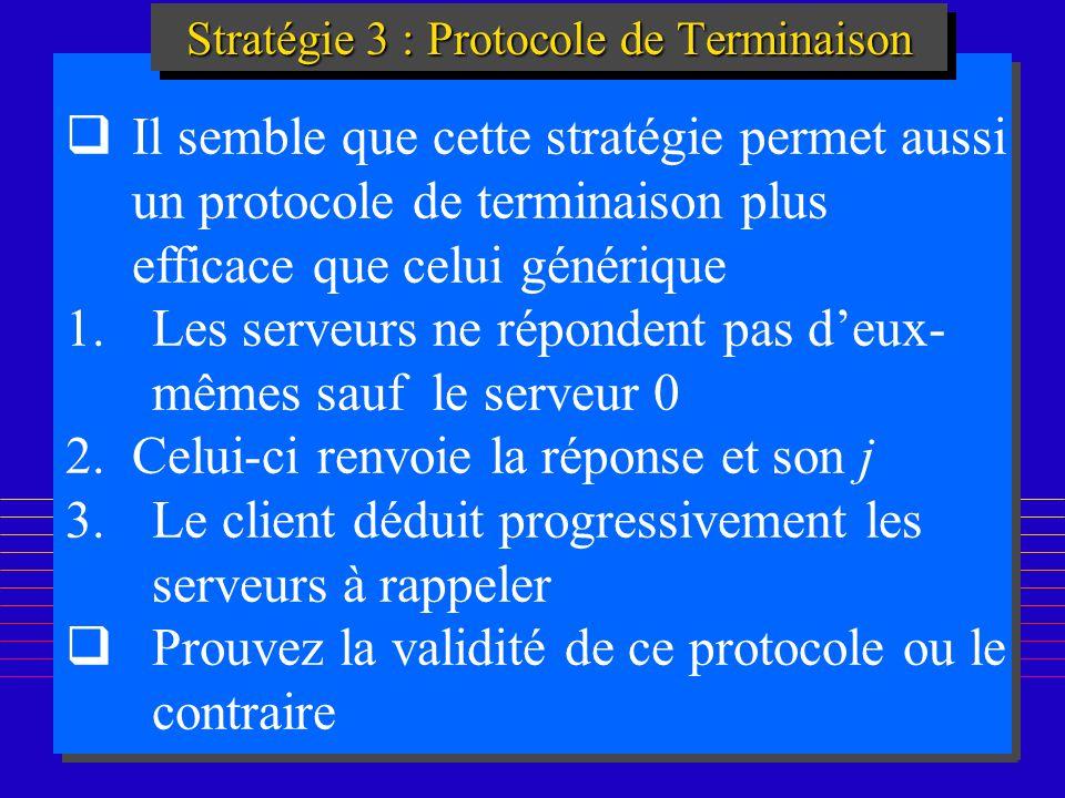 Stratégie 3 : Protocole de Terminaison