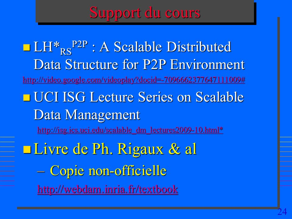 Support du cours Livre de Ph. Rigaux & al