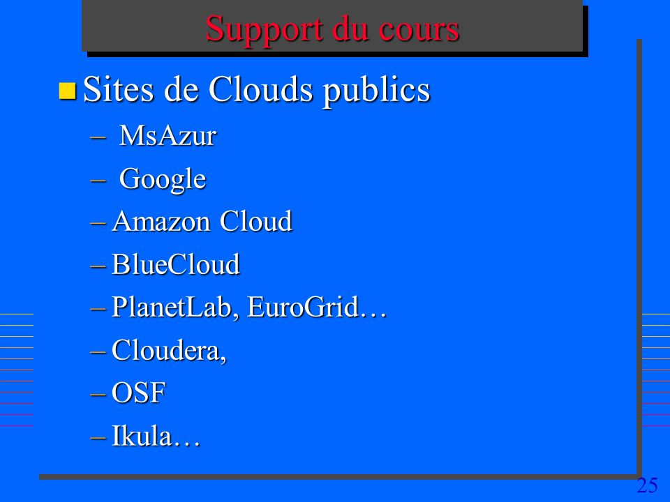 Sites de Clouds publics