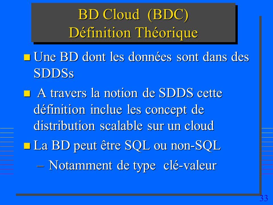 BD Cloud (BDC) Définition Théorique