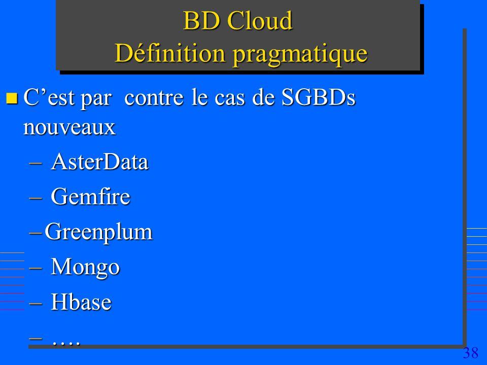 BD Cloud Définition pragmatique