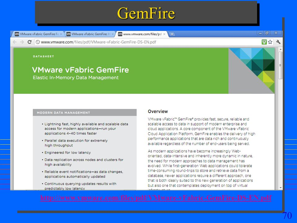 GemFire http://www.vmware.com/files/pdf/VMware-vFabric-GemFire-DS-EN.pdf