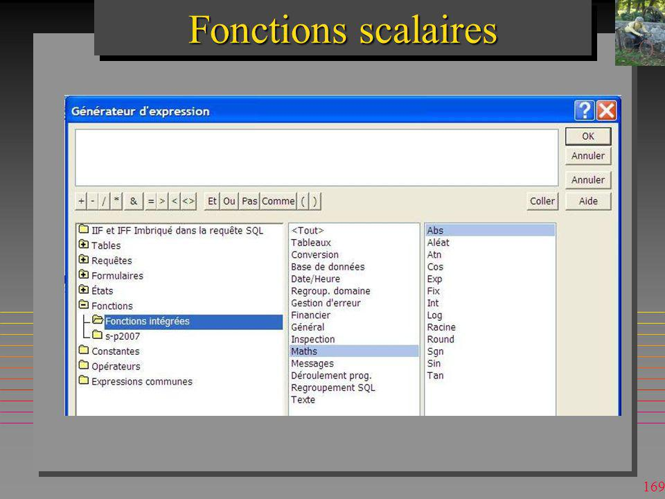 Fonctions scalaires